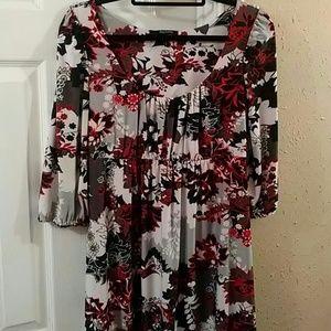 Daisy fuentes floral print dress sz M